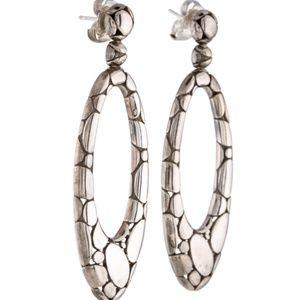 John Hardy Kali Pebble Oval Drop Earrings